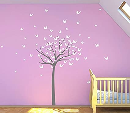 f4aa848e05 Image Unavailable. Image not available for. Color: Design Divil's Supreme  Tall Bursting Butterfly Tree. Quality Vinyl Matte Wall Decal Sticker