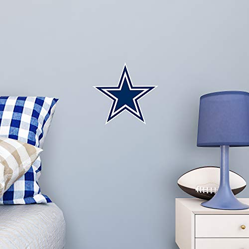 NFL Dallas Cowboys Officially Licensed Logo Removable Wall Decal, Multicolor, Big ()