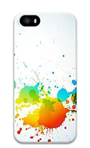 Colorful Abstract Polycarbonate Hard Case Cover for iPhone 5/5S 3D by runtopwell