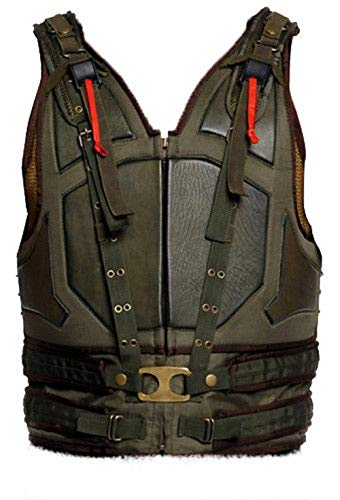 Bane Tom Hardy Vest The Dark Knight Rises Faux Leather Cosplay Costume