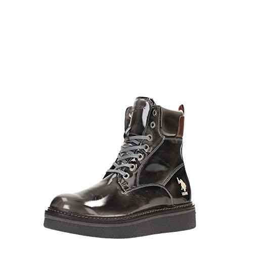 US Polo Association Susan4094w5yl1 Grey - Zapatos de cordones de Piel para mujer gris