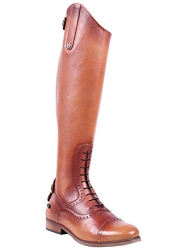 QHP Damen Sophia Cognac Luxus Reitstiefel normale 36 Wadenweite Leder 42 Größe rr1CqH