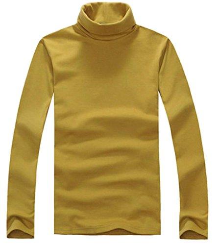 X-Future Men's Slim Fit Solid Turtleneck Cotton Long Sleeve T-Shirts 4 L (Shirt 4l X)