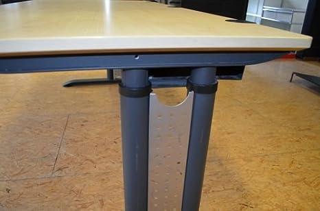 massiv Esche Schreibtisch 180x90cm gebrauchte Büromöbel Höhenverstellung