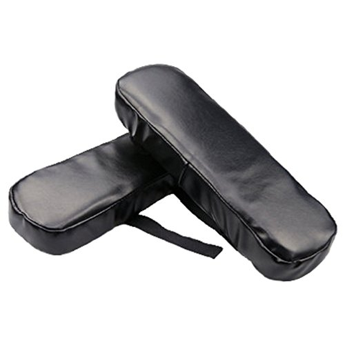 FUYUFU 2 PU Almohada de Codo para Reposabrazos Silla PU Cojin de Codo Almohadillas para Reposabrazos De La Silla (Negro)
