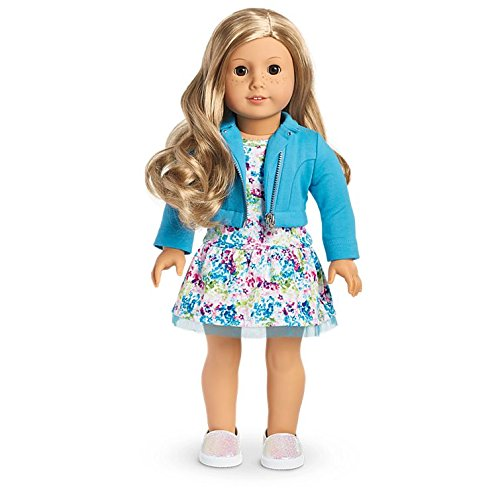 American Girl - 2017 Truly Me Doll: Light Skin, Freckles, Wavy Blond Hair, Brown Eyes ()
