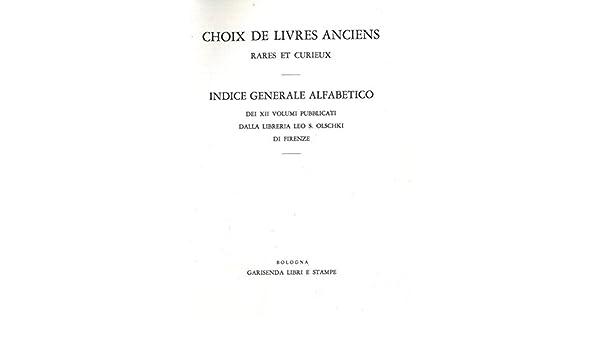 Choix Des Livres Anciens Rares Et Curieux En Vente A La