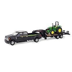 Ertl Ford Pickup with Gooseneck Trailer & John Deere Tractor Vehicle