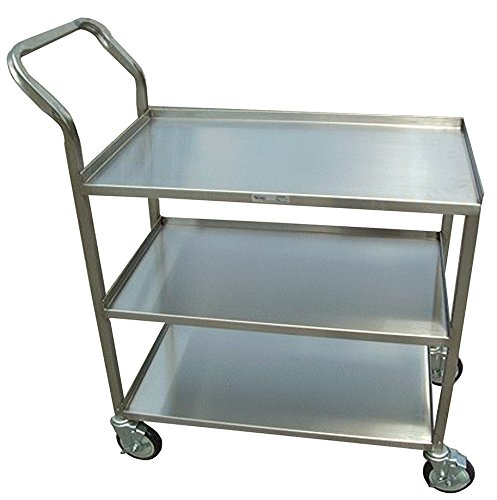 Winholt SSUC-3-2133/2H/45H Duty Utility Carts, Stainless Steel, Single Handle, Medium, 21'' Width x 38 1/6'' Length x 44 1/2'' Height by Win-Holt