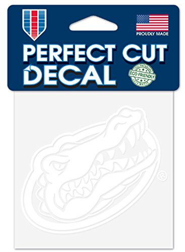 WinCraft NCAA Florida Gators 4x4 Perfect Cut White Decal, One Size, Team Color -