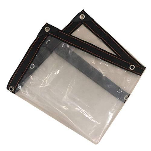 障害舌な辞任するQIANGDA トラックシート荷台カバープラスチック透明ダスト 防水 透明 フロアカバー アウトドア、 複数のサイズ (色 : トランスペアレント, サイズ さいず : 2.8x2.8m)