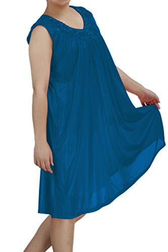 Women's nightgowns8 Satin Silk Sleeveless Lingerie Nightgown By (Jewel Sleeveless Satin)