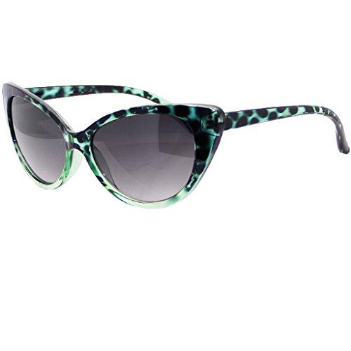 50's Women's OG Classic Cat Eye Sunglasses (Green, - Sunglasses Cat Eye Kardashian