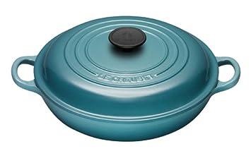 LE CREUSET 250323017 - Cazuela de hierro fundido, 30 cm, color azul claro: Amazon.es: Hogar