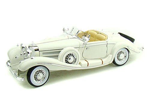 MAISTO 1/18 - 36055 MERCEDES BENZ 500K TYP SPECIAL ROADSTER 1936 - WHITE B0030AF71Y