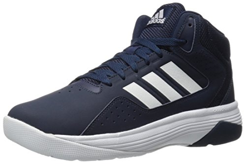 Blue Leather Athletic Shoes (adidas NEO Men's Cloudfoam Ilation Mid Basketball Shoe, Collegiate Navy/White/White, 10 M US)