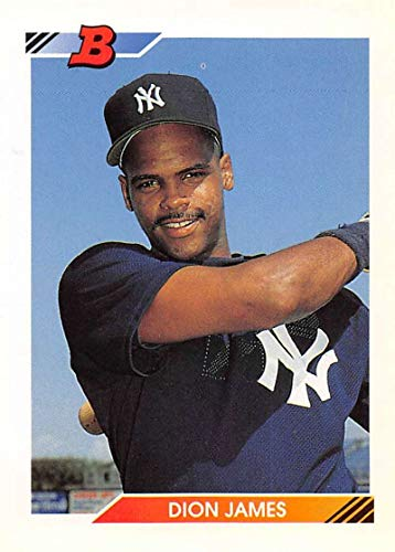 1992 Bowman Baseball #494 Dion James New York Yankees Official MLB Trading Card from Topps