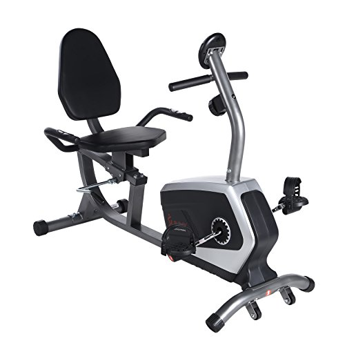 ss Magnetic Recumbent Bike Exercise Bike, 300lb Capacity, Easy Adjustable Seat, Monitor, Pulse Rate Monitoring - SF-RB4616 (Fitness Bike)