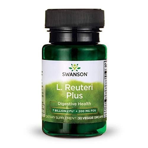 (Swanson L. Reuteri Probiotic Plus with L. Rhamnosus L. Acidophilus & FOS Prebiotic Digestive Support 7 Billion CFU 30 Veggie Capsules )