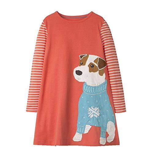 HILEELANG Toddler Kids Girl Dress Long Sleeve Cotton