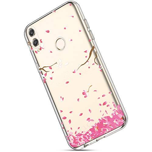 Leggere Silicone E Case Gomma 8x 8x Protettiva Sottile Con Modello Custodia For Morbida Trasparente Huawei Tpu Cover rosa Honor Chiaro Gel Rossa Colorato Ultra Ukayfe wPZqvICT