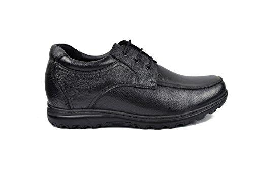 Zerimar Chaussures Rehaussantes Por Hommes Ajoutez +7 CM à Votre Taille Fait de Cuir de Haute Qualité Couleur Noir Taille 44