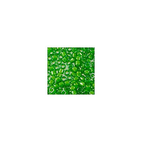Miyuki Delica Seed Bead 11/0 Color Lined Leaf Green