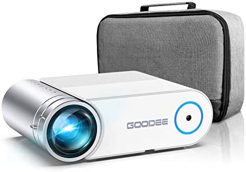 "Mini Projector for iPhone, GooDee 6000L Video Projector, Full HD 1080P and 200"" Display Portable Movie Projector with Carry Bag, Compatible with TV Stick/PS4/HDMI/iOS /Android (YG420)"