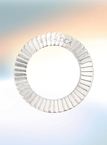 Wedge Locking Washer 254 SMO Stainless Steel 3/8'' 10 glued Pairs/Pack by Nord-Lock
