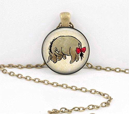 (Eeyore from Winnie the Pooh AA Milne Pendant Necklace or Key)