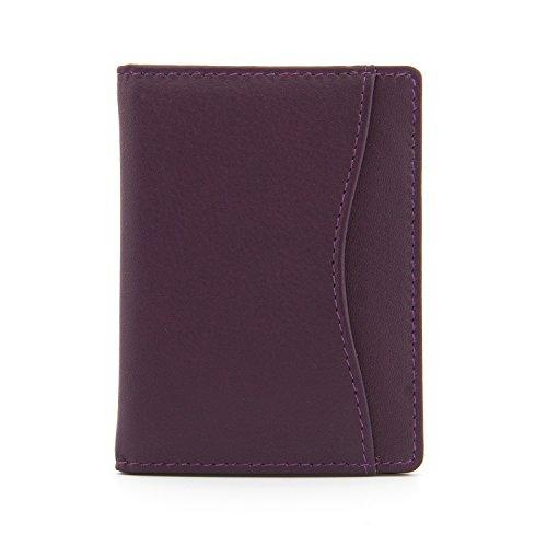 1642 pelle morbida Nappa - Viaggi Passo / Oyster Card Holder (5307 17) - Viola
