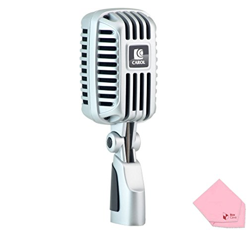 Professional Super-Cardioid Retro Vintage Microphone – The Classic Elvis Microphone | by CAROL CLM-101 (Handheld Supercardioid Vocal Microphone)