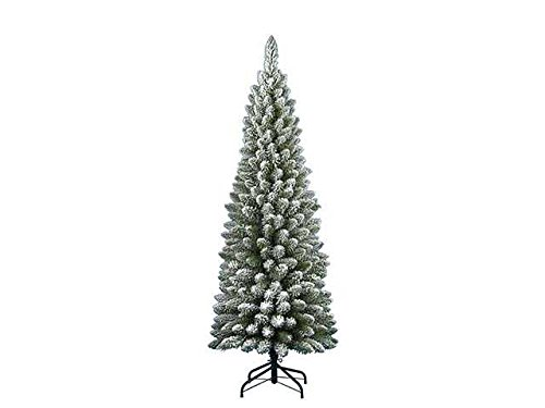 LIBERAONLINE Weihnachtsbaum Sylvaner beflockt 210 cm verschneite Typ Slim   agn17