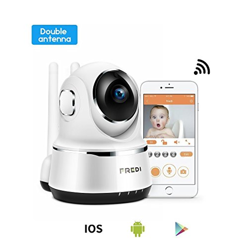 Multi Room Baby Monitors (FREDI Wireless Baby Monitor Camera 720P Security IP Home Camera with Two-Way Talking,Infrared Night Vision,Pan Tilt,P2P Wps Ir-Cut Nanny ip Camera Motion Detection (White))