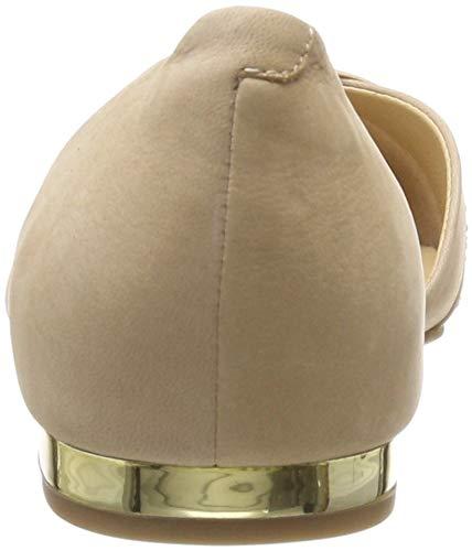 422 Beige Mujer Co Carolina Nubuc beige Para Caprice Mocasines Pw8qzq6