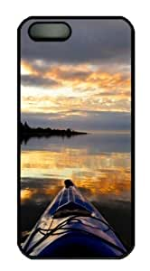 WMSHOPE? iPhone 5s Case Cover SUNSET FROM KAYAK PC FOR AND