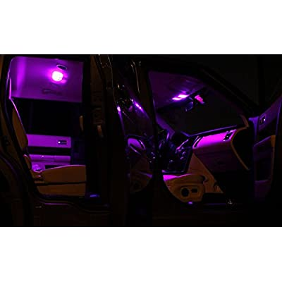 LEDpartsNow Interior LED Lights Replacement for 2006-2020 Toyota 4Runner Accessories Package Kit (16 Bulbs), FUCHSIA PURPLE: Automotive