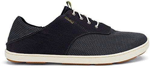 OLUKAI Men's Nohea Moku Sneaker,Dark Wood/Dark Wood,US 10 M