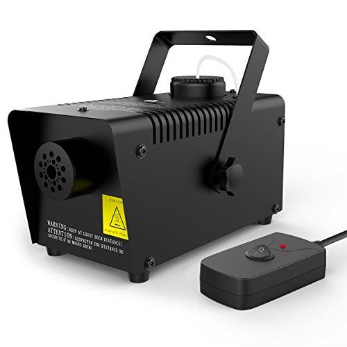 [1byone 550ml Tank Mini Fog Machine with wired remote control - 400 Watt] (Small Fog Machines)