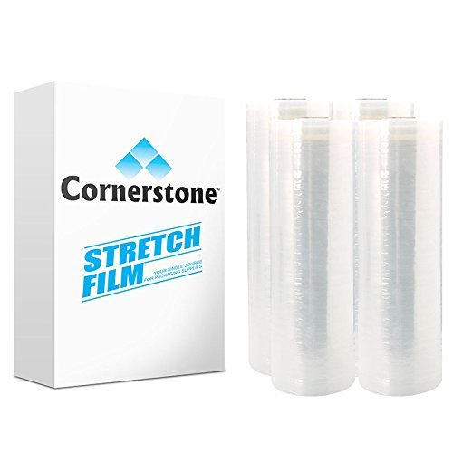 Clear Hand Stretch Wrap Film. 18 in x 1500 ft | 4 PACK