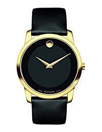 Movado Museum Black Dial Leather Mens Watch 0606876