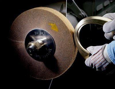 6 x 4 x 2 5A MED 6 Diameter 6 x 4 x 2 5A MED 3M 4000 rpm Scotch-Brite 93579 Cut and Polish Flap Brush Abrasive Grit 6 Diameter