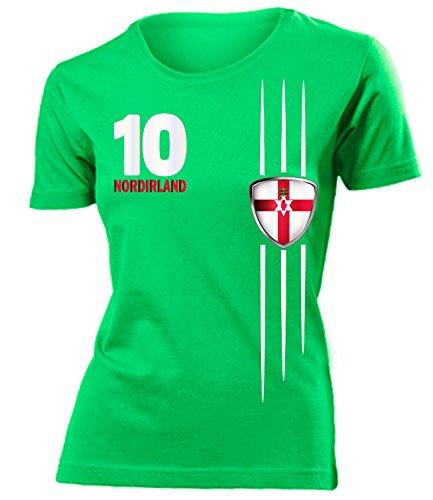 coppa del Mondo - Campionati Europei NORDIRLAND FAN mujer camiseta Tamaño S to XXL varios colores Verde