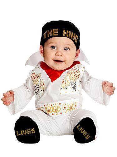Rubie's Elvis Onesie Costume, White, 6-12 Months -