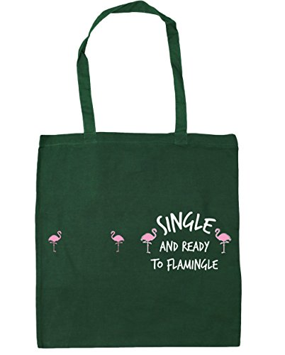 42cm Gym litres Single Bottle Tote Ready Bag Flamingle Shopping x38cm 10 Green To and Beach HippoWarehouse 0xOwvx