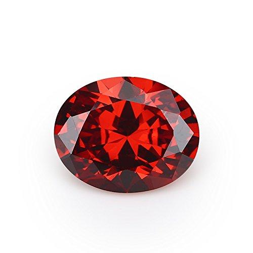 50PCS Size 3x5~10x12mm AAAAA Garnet Oval Shape Loose Cubic Zirconia CZ Stone For Jewelry Diy (10x14mm 50pcs) by JIANGYUANGEMS