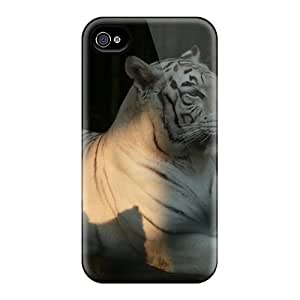 Rugged Skin Case Cover For Iphone 4/4s- Eco-friendly Packaging(his Majesty)