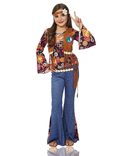 Girl's Peace Out Hippie Costume - M
