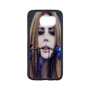 Lana Del Rey Series, Samsung Galaxy S6 Case, Lana Del Rey, Blue Rose Case for Samsung Galaxy S6 [White]