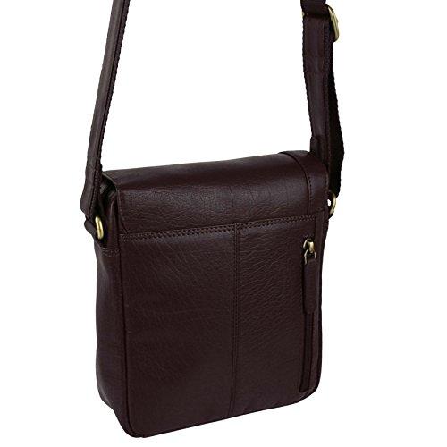 Visconti - Bolso de hombro, de piel, unisex marrón